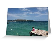 girl by the sea Greeting Card