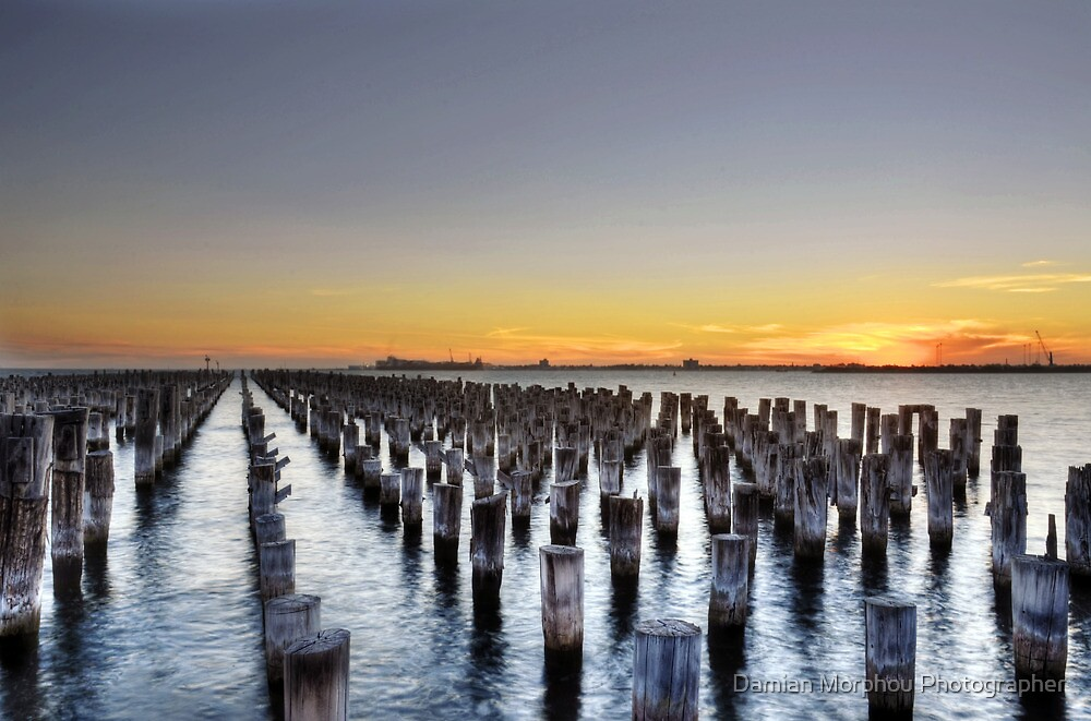 Sunset pier by Damian Morphou