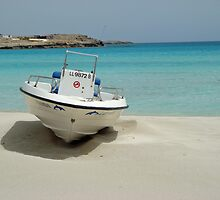 Nissi Beach Boat by John Maxwell