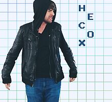 Smosh Ian Hecox Grid Sticker by petra1999