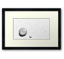 Mike's Hard Lemonade Black & White Framed Print