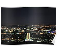 Canberra by Night Poster