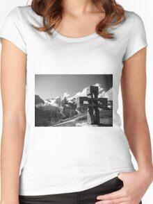 Alp Austria - Mountain - Kreuz Women's Fitted Scoop T-Shirt