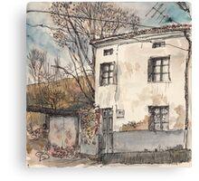 House in Guardo in Winter Canvas Print