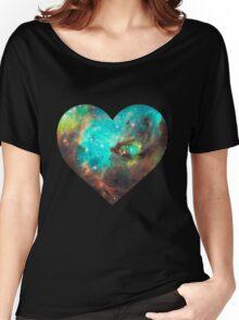 Green Galaxy Heart Women's Relaxed Fit T-Shirt