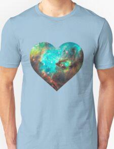 Green Galaxy Heart T-Shirt
