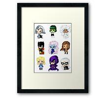Chibi Heroines Framed Print