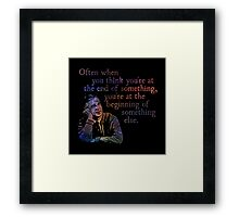 The End of Something - Fred Rogers Framed Print