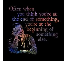 The End of Something - Fred Rogers Photographic Print