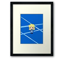 Chibi Invisible Woman Framed Print