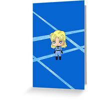 Chibi Invisible Woman Greeting Card