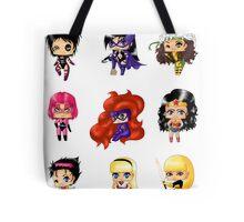 Chibi Heroines 2 Tote Bag