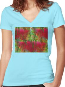 TRUST YOUR INSTINCTS & FLOURISH Women's Fitted V-Neck T-Shirt