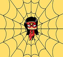 Chibi Spiderwoman by artwaste