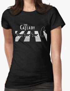Cat Lady funny parody Womens Fitted T-Shirt