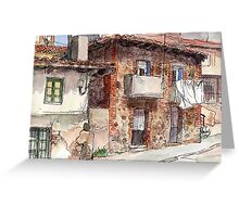 Calle La Fuente Greeting Card