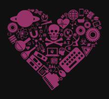 Science Heart - Pink Kids Tee