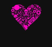 Science Heart - Pink Unisex T-Shirt