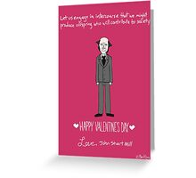 John Stuart Mill Greeting Card