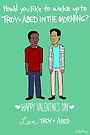 Troy and Abed by Ben Kling