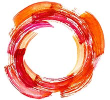 Abstract Watercolor Stroke Photographic Print