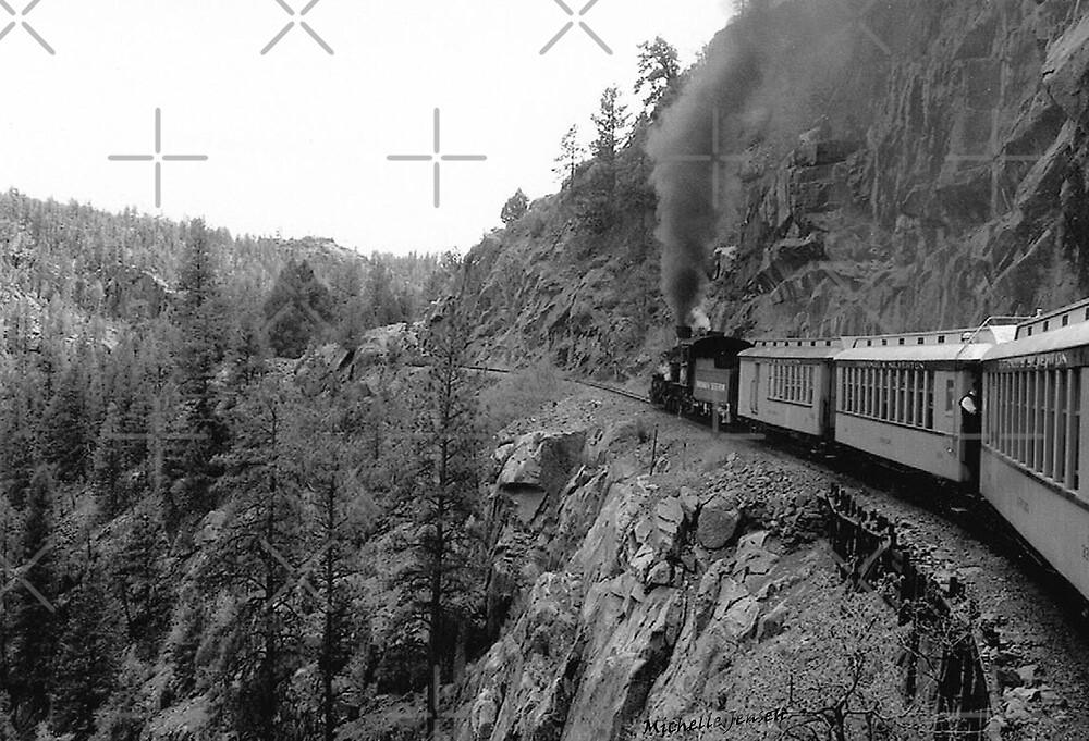 Black and White Train by WishesandWhims