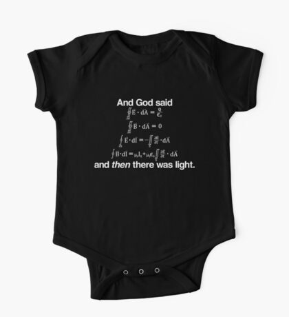 And God Said (Maxwell's equations) One Piece - Short Sleeve