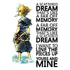 """A scattered dream that's like a far off memory"" Kingdom Hearts by giangianni"