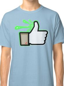 FACEBOOK X GHOSTBUSTERS (GB1 SLIMED) Classic T-Shirt