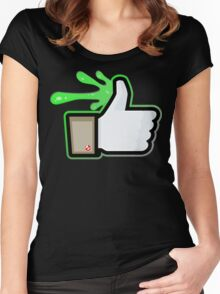 FACEBOOK X GHOSTBUSTERS (GB1 SLIMED) Women's Fitted Scoop T-Shirt