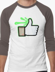 FACEBOOK X GHOSTBUSTERS (GB1 SLIMED) Men's Baseball ¾ T-Shirt