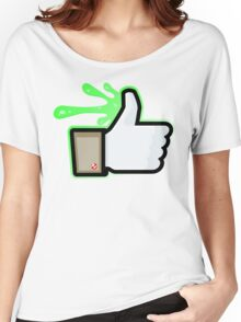 FACEBOOK X GHOSTBUSTERS (GB1 SLIMED) Women's Relaxed Fit T-Shirt