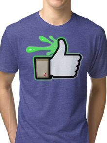 FACEBOOK X GHOSTBUSTERS (GB1 SLIMED) Tri-blend T-Shirt