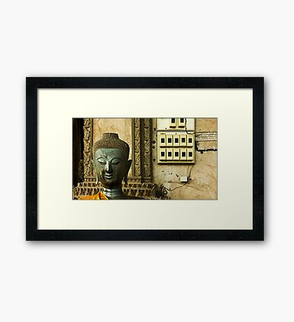 Ancient Temple - Modern Times Framed Print