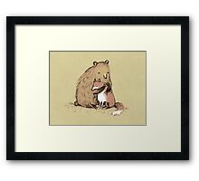 Grizzly Hugs Framed Print