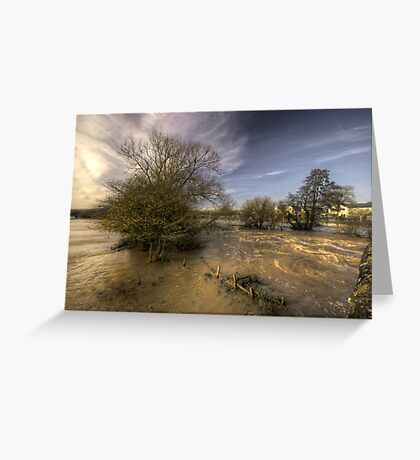 The Floods at Stoke Canon  Greeting Card