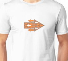 Arrow Abstract Coming & Going Unisex T-Shirt