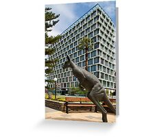 Kangaroo Sculpture Greeting Card