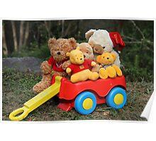 Wagon of Teddies Poster