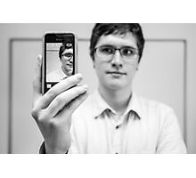 Mobile Phone Portrait Photographic Print