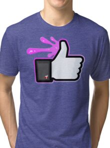 FACEBOOK X GHOSTBUSTERS (GB2 SLIMED) Tri-blend T-Shirt