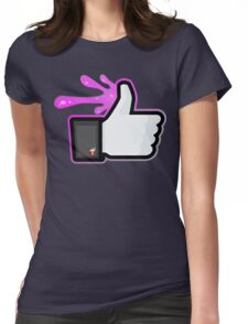 FACEBOOK X GHOSTBUSTERS (GB2 SLIMED) Womens Fitted T-Shirt