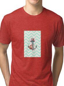 Mint Anchor Tri-blend T-Shirt