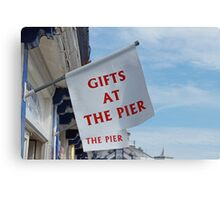 Gift Shop Flags Painting Canvas Print