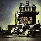 Spitfire at Barton by John Maxwell