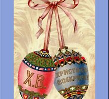 Vintage Russian Easter Greetings by Yesteryears