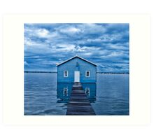 Crawley Edge Boatshed Art Print