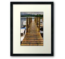 Wooden Pier at Derwentwater Framed Print