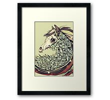 Beautiful Horse Old Framed Print
