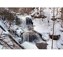 Winter Scene At Tuscarora Falls Photographic Print